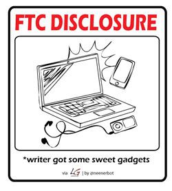 FTC disclosure writer got gadgets - Sjoerd Blok Blog